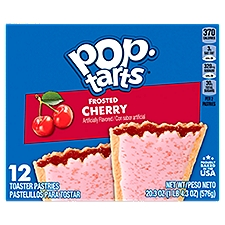 Pop-Tarts Toaster Pastries Frosted Cherry, 12 Each