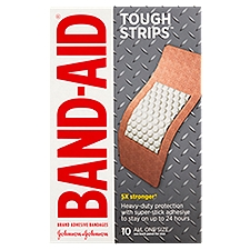 BAND-AID BRAND Tough-Strips Adhesive Bandages, 10 Each