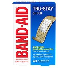 BAND-AID BRAND Adhesive Bandages Sheer, 40 Each