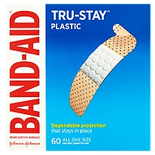 BAND-AID BRAND Comfort-Flex Plastic Adhesive Bandages, 60 Each