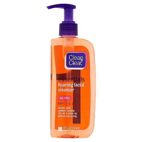 Wash away problem-causing dirt, oil, and makeup. This oil-free facial cleanser leaves your skin clean and refreshed.