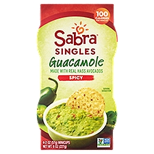 Sabra Spicy Guacamole Singles - 4 Pack, 8 Ounce