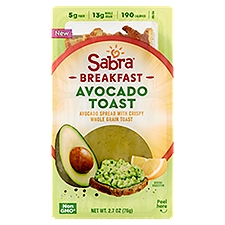 Sabra Breakfast Avocado Toast Avocado Spread Tray, 2.7 Ounce