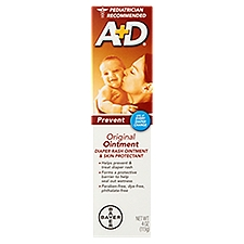 A+D Original Diaper Rash Ointment And Skin Protectant, 4 Ounce
