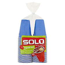 SoloGrips Plastic Cups Squared - 18oz, 50 Each