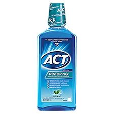 ACT Mouthwash - Restoring Cool Splash Mint, 33 Fluid ounce