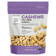 Wholesome Pantry Organic Raw Cashews, 8 Ounce