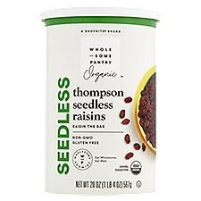 Wholesome Pantry Organic Seedless Raisins, 20 Ounce