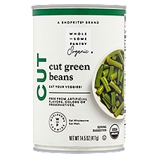 Wholesome Pantry Organic Cut Green Beans, 14.5 Ounce