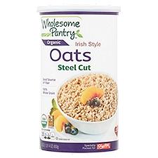 Wholesome Pantry Organic Irish Style Oats - Steel Cut, 30 Ounce