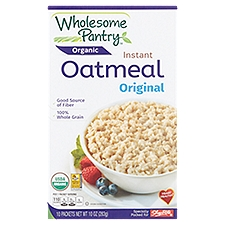 Wholesome Pantry Organic Original Instant Oatmeal, 10 Each