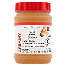 Wholesome Pantry Organic Peanut Butter - Creamy, 16 Ounce