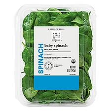 Wholesome Pantry Organic Baby Spinach, 5 Ounce