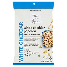 Wholesome Pantry Organic White Cheddar Popcorn, 5 Ounce