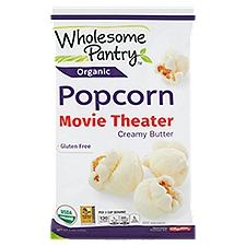 Wholesome Pantry Organic Movie Theater Creamy Butter Popcorn, 5 Ounce