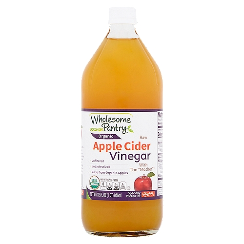 Unfiltered. Unpasteurized. Made from Organic Apples.