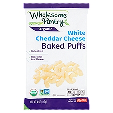 Wholesome Pantry Organic White Cheddar Cheese Baked Puffs, 4 Ounce