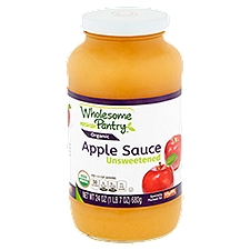 Wholesome Pantry Organic Apple Sauce - Unsweetened, 24 Ounce