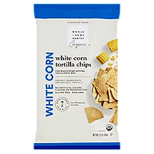 Wholesome Pantry Organic Tortilla Chips, White Corn, 12 Ounce