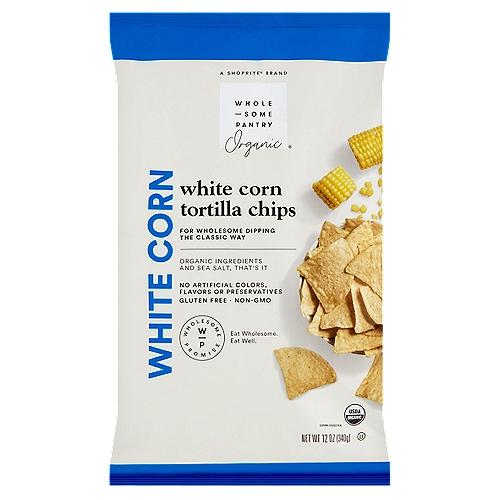 Wholesome Pantry Organic White Corn Tortilla Chips, 12 oz