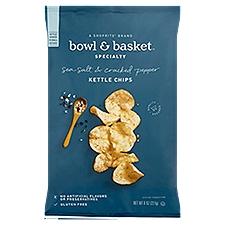 Bowl & Basket Specialty Kettle Chips Sea Salt & Cracked Pepper, 8 Ounce