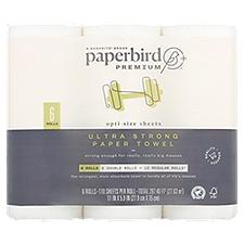 Paperbird Paper Towel Rolls Premium Ultra Strong, 6 Each