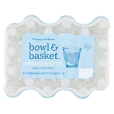 Bowl & Basket Spring Water, Mini, 24 ct, 192 Fluid ounce