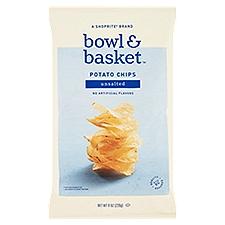 Bowl & Basket Potato Chips Unsalted, 8 Ounce
