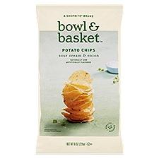 Bowl & Basket Potato Chips, Sour Cream & Onion, 8 Ounce
