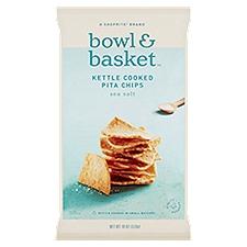Bowl & Basket Pita Chips Sea Salt Kettle Cooked, 18 Ounce