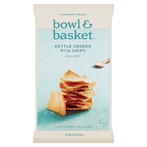 Bowl & Basket Sea Salt Kettle Cooked Pita Chips, 18 oz