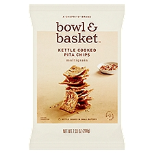Bowl & Basket Pita Chips Multigrain Kettle Cooked, 7.3 Ounce
