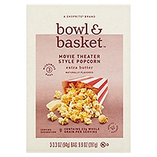 Bowl & Basket Popcorn Extra Butter Movie Theater Style, 9.9 Ounce