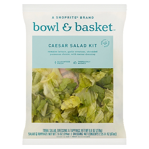 Romaine Lettuce, Garlic Croutons, Shredded Parmesan Cheese, with Caesar Dressing