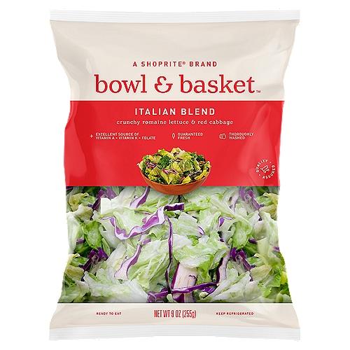 Bowl & Basket Italian Blend Crunchy Romaine Lettuce & Red Cabbage, 9 oz