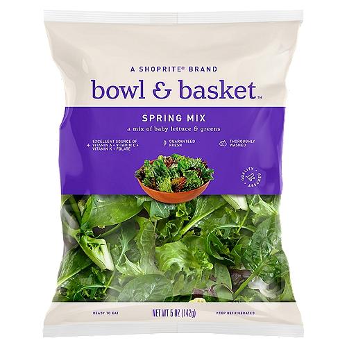 Bowl & Basket Spring Mix, 5 oz