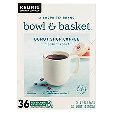 Bowl & Basket K-Cup Pods Medium Roast Donut Shop Coffee, 11.2 Ounce