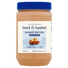 Bowl & Basket Super Chunky Peanut Butter, 40 oz, 40 Ounce