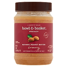 Bowl & Basket Specialty Natural Creamy Peanut Butter, 16 Ounce