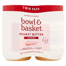 Bowl & Basket Creamy Peanut Butter Twin Pack, 40 oz, 2 count, 80 Ounce