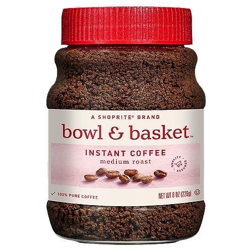 Bowl & Basket Medium Roast Instant Coffee, 8 oz