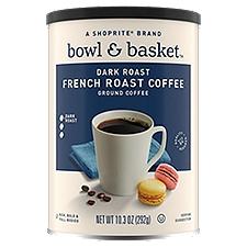 Bowl & Basket Coffee Dark French Roast Ground, 10.3 Ounce