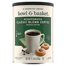 Bowl & Basket Coffee Decaffeinated Medium Classic Blend Ground, 11.3 Ounce