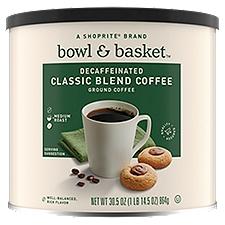 Bowl & Basket Coffee Decaffeinated Medium Classic Blend Ground, 30.5 Ounce