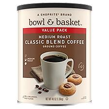 Bowl & Basket Coffee Medium Roast Classic Blend Ground, 48 Ounce