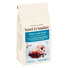 Bowl & Basket Coffee Medium Roast Donut Shop, 12 Ounce