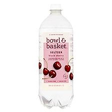 Bowl & Basket Seltzer Black Cherry, 33.8 Fluid ounce