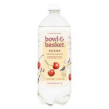 Bowl & Basket Seltzer Cherry Vanilla, 33.8 Fluid ounce