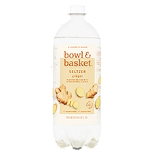Bowl & Basket Seltzer Ginger, 33.8 Fluid ounce
