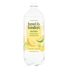 Bowl & Basket Seltzer Lemon Lime, 33.8 Fluid ounce